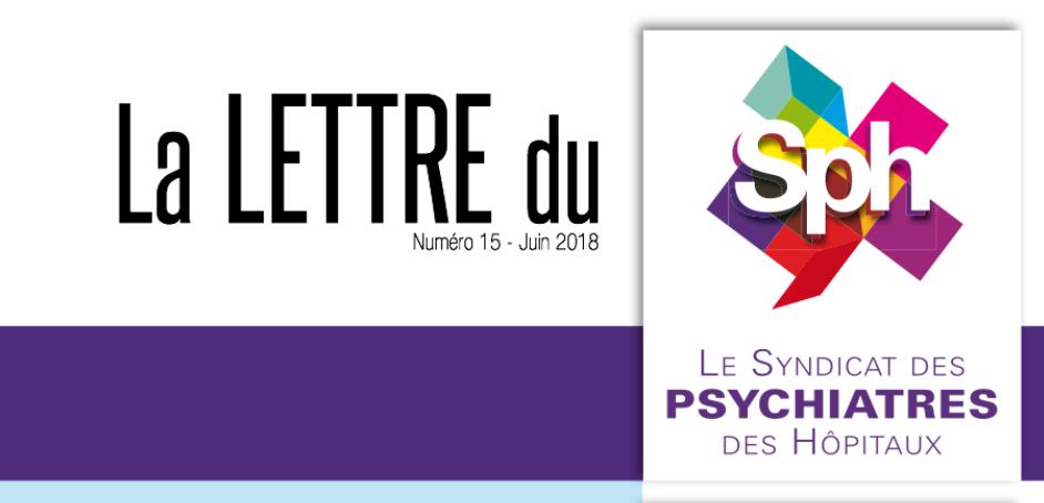 La lettre du SPH n°15 – juin 2018