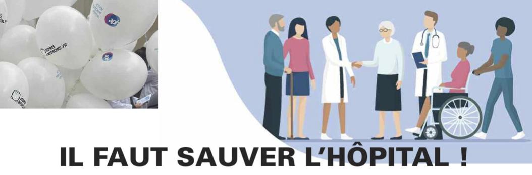 APH et Jeunes Médecins : Il faut sauver l'hôpital – le tract à diffuser